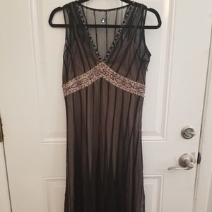 ICE beaded illusion cocktail dress